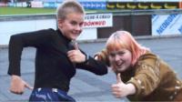 Happy Icelandic teenagers
