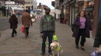 Amit Patel and guide dog Kika