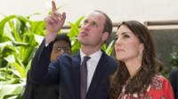 Duke and Duchess of Cambridge at memorial