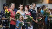 People at vigil