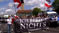 German neo-Nazis march in Berlin.