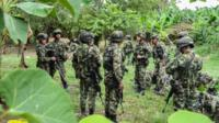 Colombian soldiers near the Venezuelan border on March 23, 2017