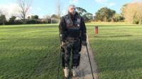 Chris Baker's robotic skeleton helps him walk