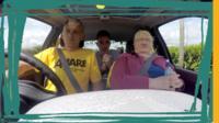 Jarlath, Ryan, Agnes in car