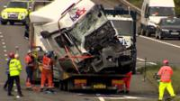 Lorry wreckage