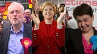 Corbyn, Sturgeon and Davidson