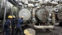 An oil plant in Nigeria