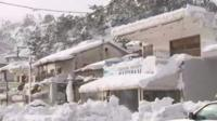 Parts of Greece have been blanketed in snow as icy temperatures continue to grip much of Europe.