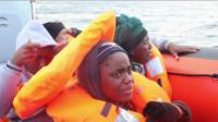 Migrants adrift at sea are rescued off the north coast of Libya