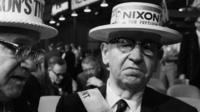 Nixon supporter during 1968 Republican National Convention
