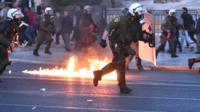 Police in Athens