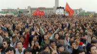 Student protests in Tiananmen Square protest in 1989