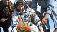 Helen Sharman after landing
