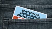 NI card in pocket