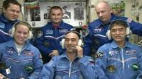 Multinational crew arrive on ISS