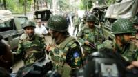 Troops in Dhaka