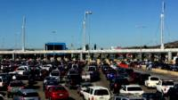 Cars at border