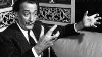 Salvador Dali records an interview for Today in May 1959