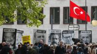 Press freedom rally outside Turkish embassy, Berlin, 3 May 17