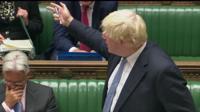 Boris Johnson in House of Commons