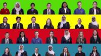 graphic montage of secondary school students