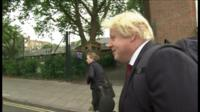 Boris Johnson quizzed by reporters