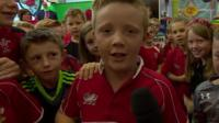 Children at George Street Primary School in Pontypool