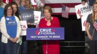 Carly Fiorina sings about Ted Cruz's daughters