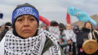 Prayer ceremony in Standing rock