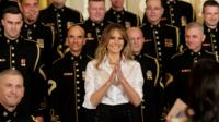 Ahead of Mothers' Day in the US, the First Lady spoke of her admiration for the mothers of those who serve.