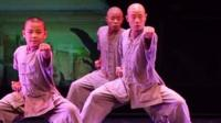 Shaolin monks on stage in Singapore