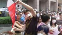 China explosions: Tianjin residents hold protests