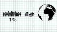 Graphic showing 1% of the world's population and money
