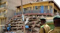 Collapsed builing in Nairobi