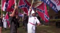 A rally by Ku Klux Klan members in Virginia