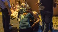Relatives grieve at hospital August 20, 2016 in Gaziantep following a late night militant attack on a wedding party in southeastern Turkey - 21 August 2016