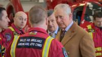 Prince Charles met medical staff, pilots and volunteers