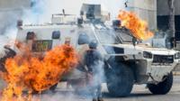 An armoured vehicle