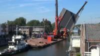 Crane collapsing