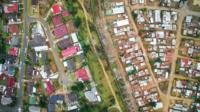 Drone picture of South Africa