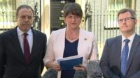 Arlene Foster and her DUP team