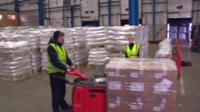 A distribution centre in Liverpool