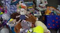 Toys at donation centre