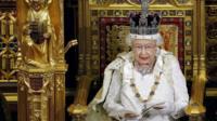 Queen giving the speech
