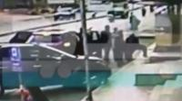 Screenshot of footage of the attempted abduction