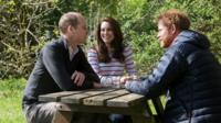 Prince William, the Duchess of Cambridge and Prince Harry.