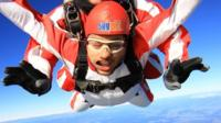 Allan skydiving