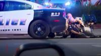 Dallas police hiding behind car
