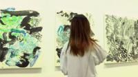 Paintings at art fair