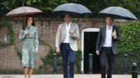 The Princes and the Duchess of Cambridge